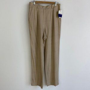 LIZ CLAIBORNE Houndstooth Tapered Neutral Pant NWT